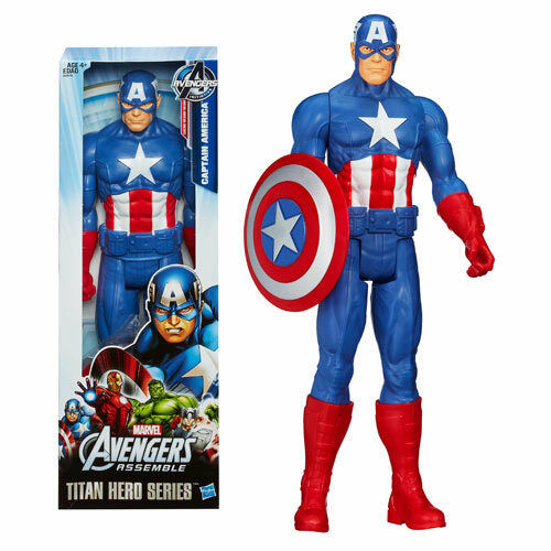 CAPTAIN AMERICA ( 12  ) VHTF ( 2012 ) MARVEL AVENGERS TITAN HERO ACTION FIGURE