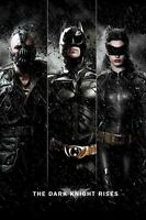 Batman The Dark Knight Rises Triple Rise 24x36 Movie Poster Bane Catwoman