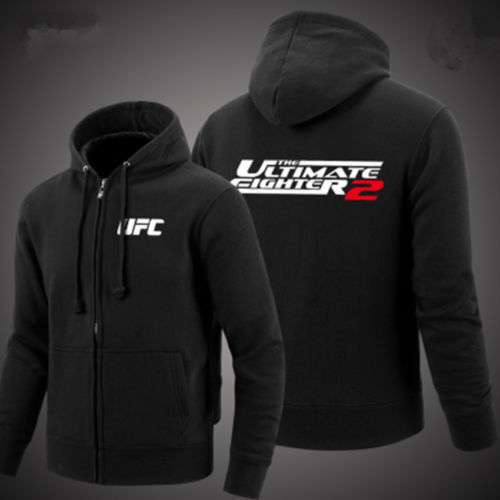 UFC combat sports training zipper fleece clothing Men Cardigan hoodies jacket