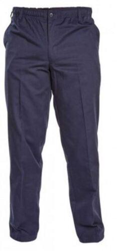 Mens Duke D555 BASILIO Rugby Trousers Elastic Waist Smart Casual Pants