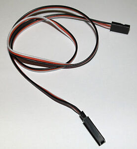 10x 500mm Servo Extension Cord Cable Lead Wire JR Futaba 50cm 26AWG