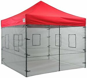 10x10 Pop Up Canopy Tent Sidewalls Food Service Vendor