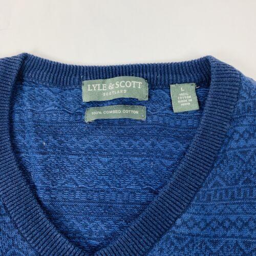 Suéter algodón And suéter Scott grande con cuello 100 Lyle tipo de en azul V ggOqrSxv