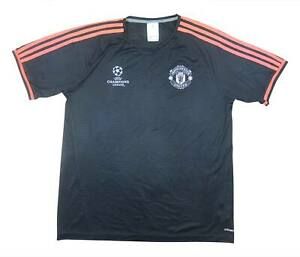 Manchester-United-2015-16-Authentic-CL-Pre-match-shirt-M-SOCCER-JERSEY