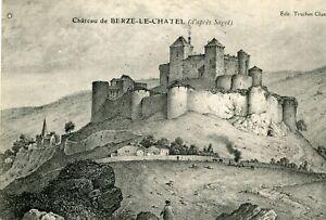 BERZE-LA-VILLE-LOT-de-4-cartes-dont-illustration-d-039-apres-Sagot