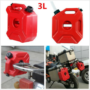 Universal 3 Litre Fuel Tank Jerry Cans Spare Plastic Petrol Tanks ATV Jerrycan Mount Motorcycle Car Gas Can Gasoline Oil Container Fuel-jugs w//Lock Mounting Kit 3L