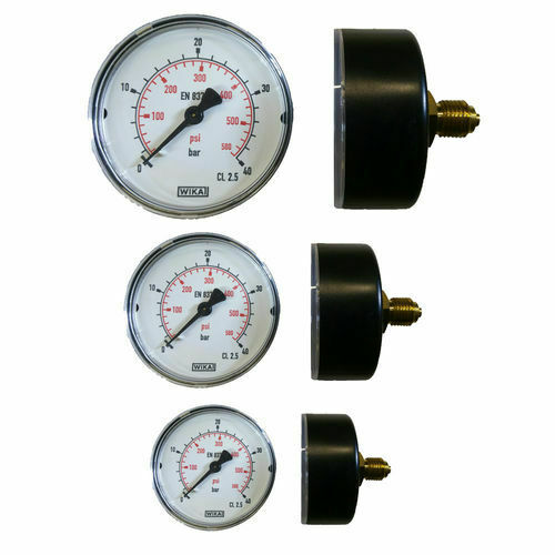 Manometer waagrecht Ø 40, 50, 63 mm Druckluft-Manometer Vakuum Kompressor