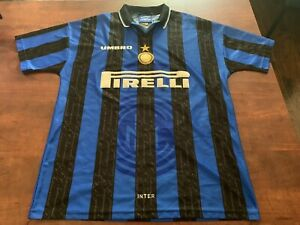 INTER-MILAN-HOME-JERSEY-1997-1998-SIZE-L-VINTAGE-RARE-RONALDO-ZANETTI