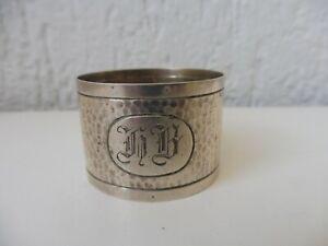 Bellissimo, vecchio anello tovagliolo, Sterling - Argento, inciso: HB