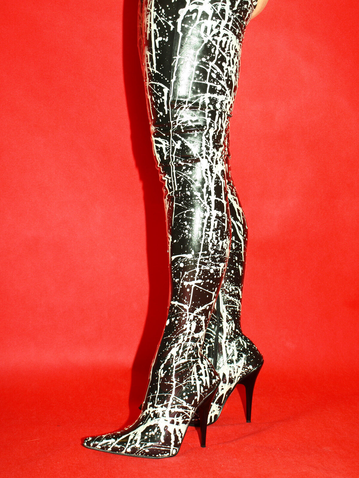 LATEX RUBBER FETISH Stiefel PRODUCER- SIZE 4-12- HEELS 5,5