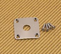Ap-0633-010 Gotoh Curved Square Jack Plate For Les Paul® Guitar/bass - Chrome