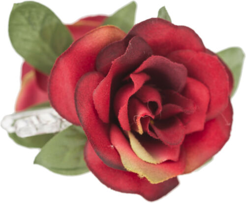 Killer Kirsche FINOLA Floral RED ROSE Blüten Haarklammer SPANGE Rockabilly