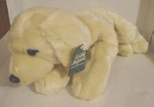 """Walmart Lovable Huggable Lying Dog Plush 16"""" very soft light golden"""