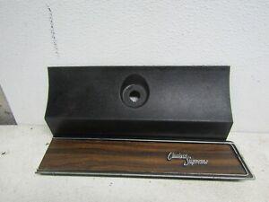70-71-72-OLDSMOBILE-CUTLASS-SUPREME-GLOVE-BOX-WOODGRAIN-BLACK