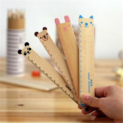1 Pc 15cm Lovely Animal Wooden Ruler Creative Drawing Tool School Supplies