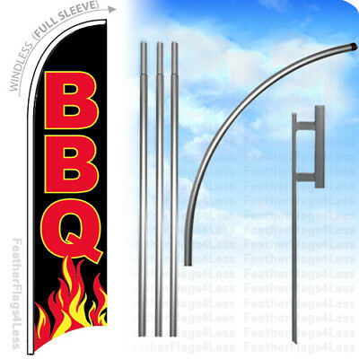 1 ea 4 Pc Pole for Swooper Banner Feather Bow Blade Flag Sign for 1//2 staff .#