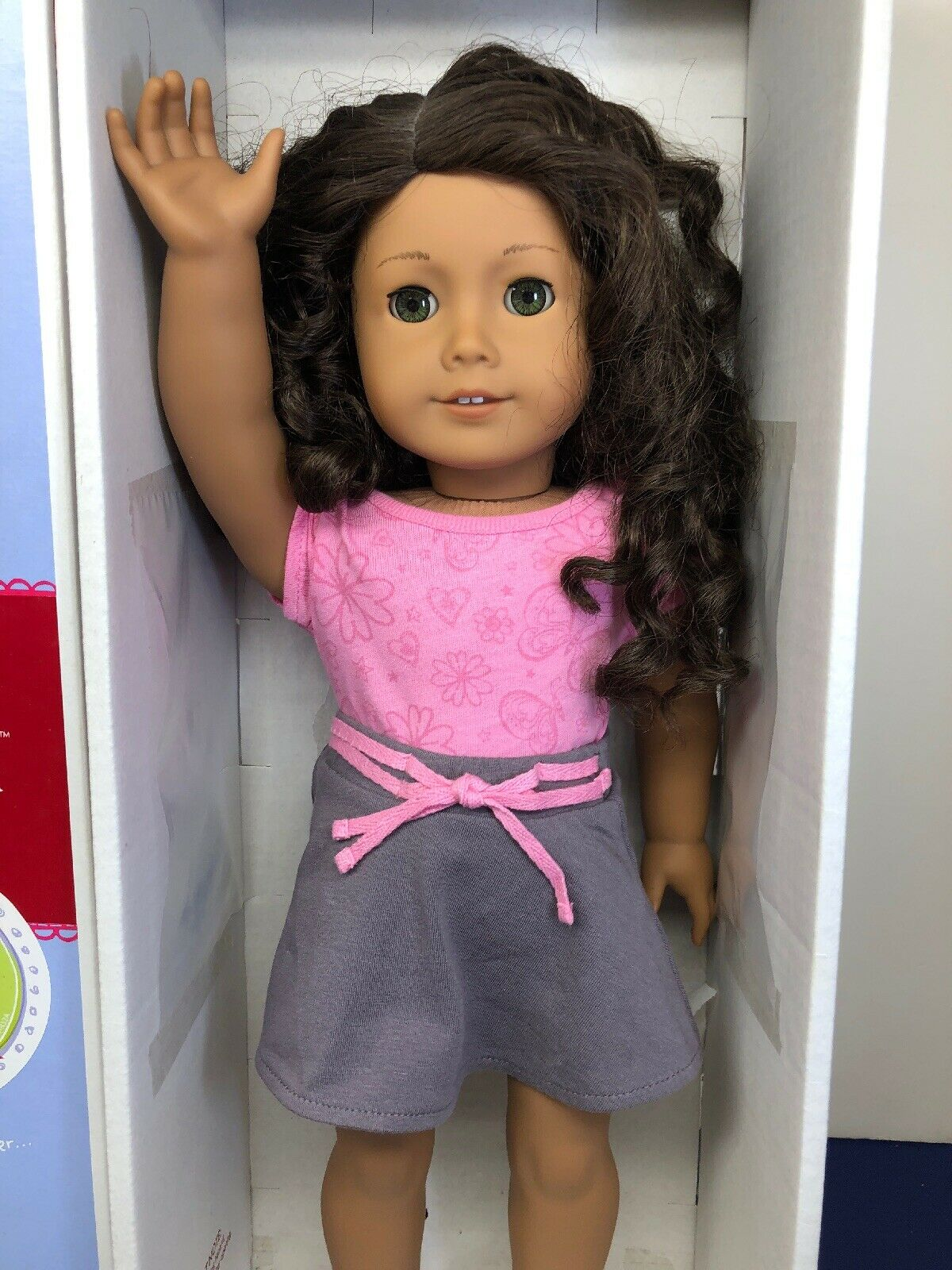 """18"""" My American Girl Doll Adorable Latina Excellent Condition With Box"""