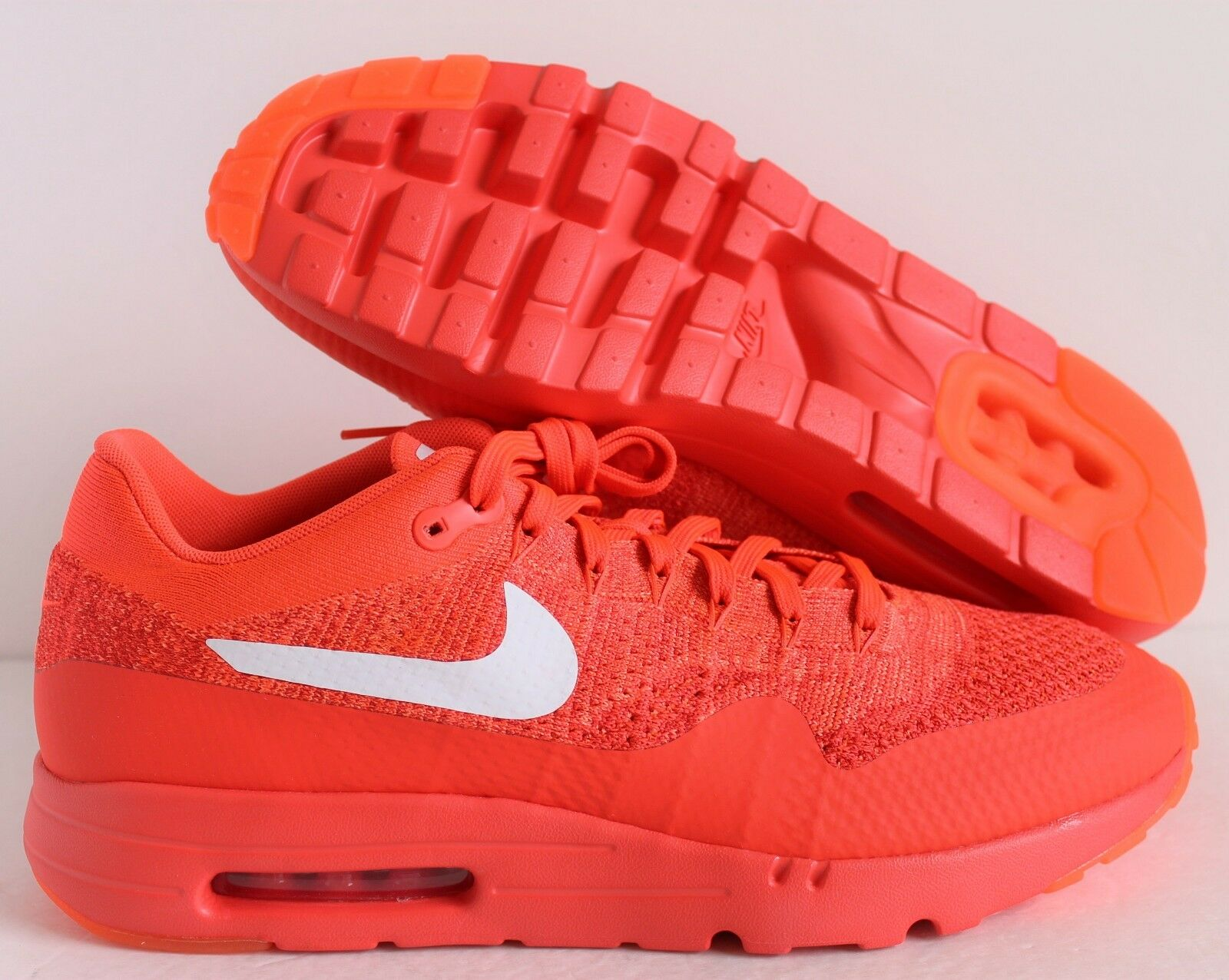 finest selection 425e4 db106 NIKE AIR MAX MAX MAX 1 ULTRA FLYKNIT BRIGHT CRIMSON-blanc-rouge SZ 13   843384-601  e57fb8