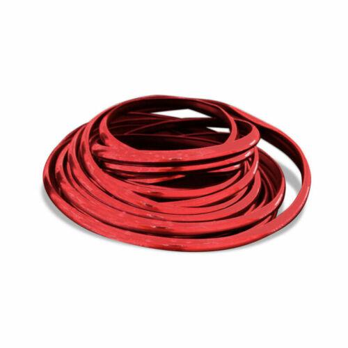 10M Seal Strip Car Door Edge Guards U Shape Trim Red PVC Protector Decoration