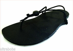 6024ab413075 Image is loading PaleoShoes-Minimalist-Running-Sandals-Shoes -Black-All-Weather-