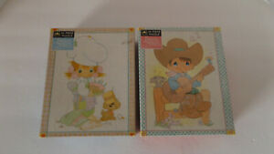 Precious Moments Jigsaw Puzzle #4809 - Cowboy/Chef - Lot of 2 - NEW/Sealed!!