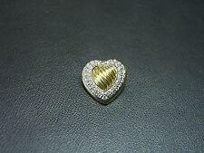 DAVID YURMAN GOLD DIAMOND HEART PIN BROOCH PRE-OWNED 18 KARAT YELLOW WOW!