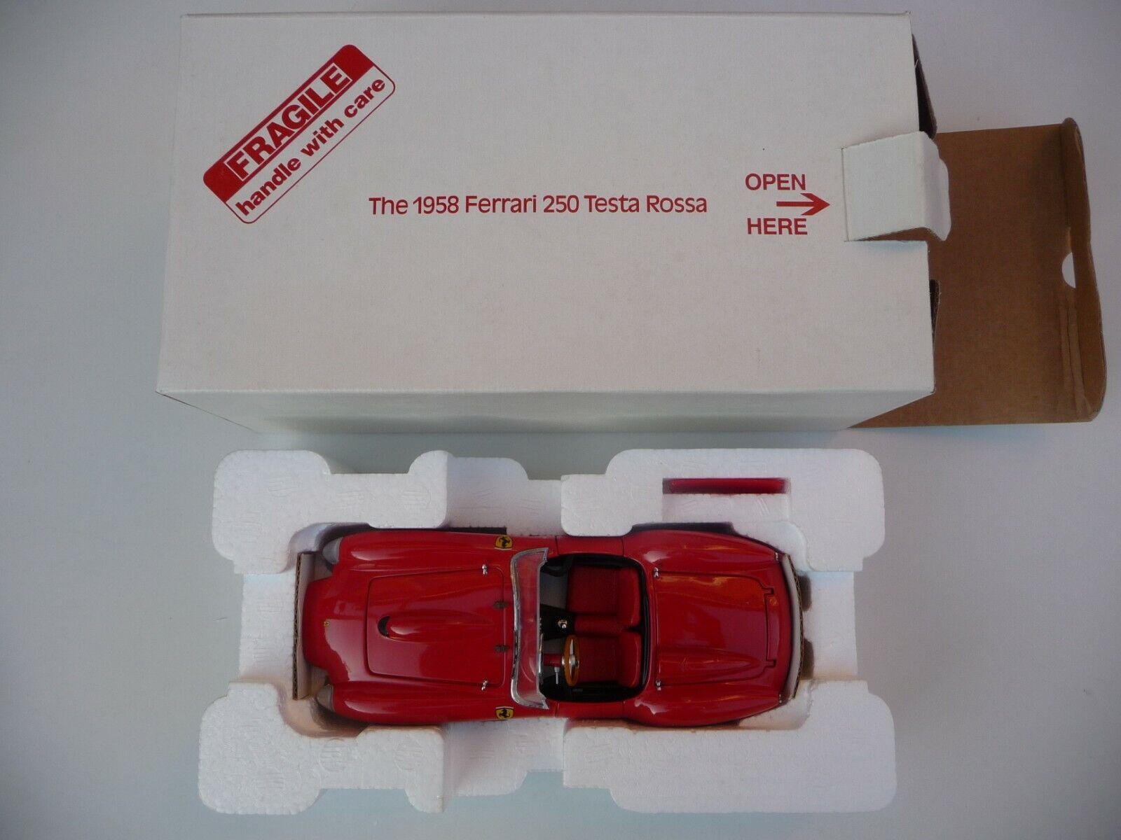 Danbury Mint 1958 Ferrari 250 Testa Rossa in Red 1 24 Scale.