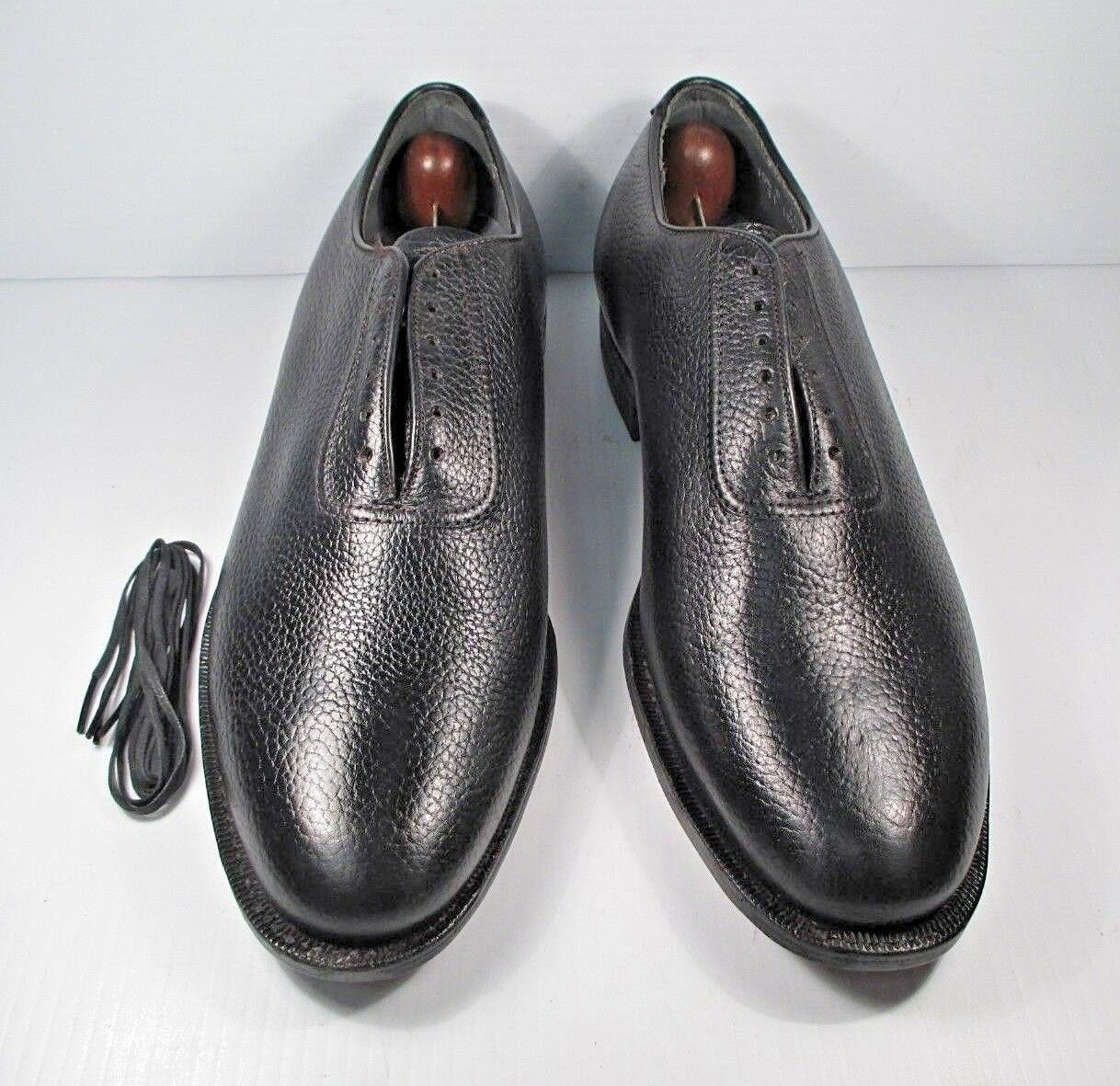 nero Leather scarpe Classics Wholecut Plain Toe Oxfords Dimensione 10.5 D Made in USA