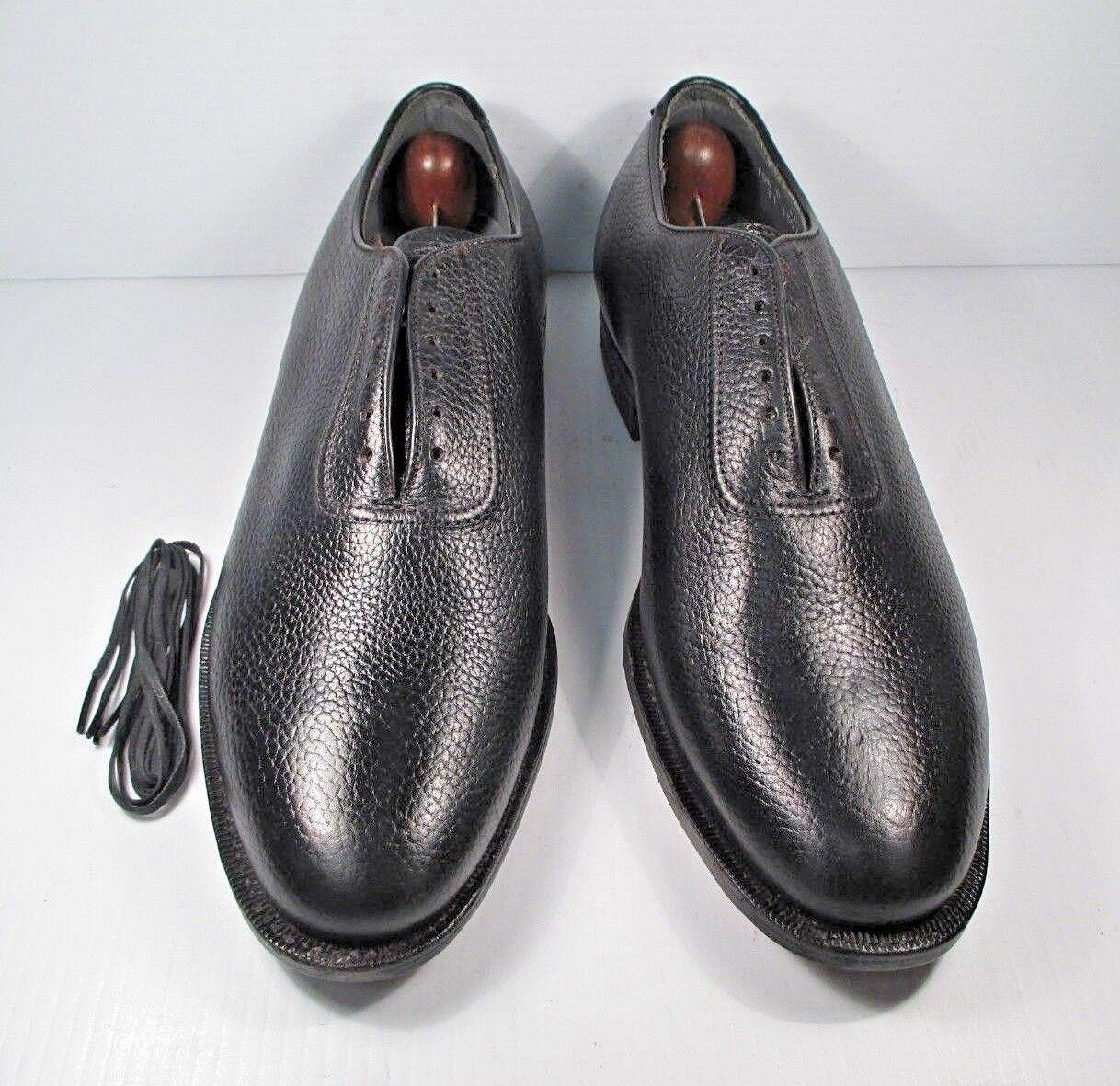 Zapato De Cuero Negro LLANO TOE OXFORD Classics wholecut tamaño 10.5 D Hecho en EE. UU.