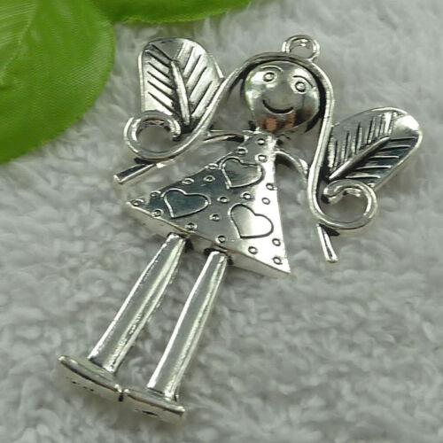 Free Ship 20 pieces tibet silver angel pendant 80x53mm #2441