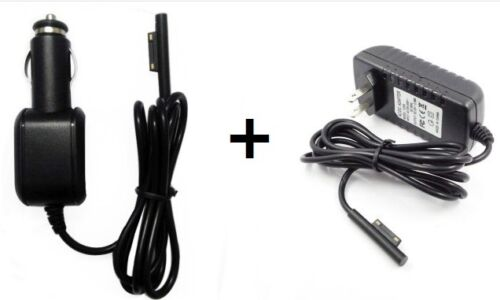 Car + Wall adap Charger Power Supply Cord For Microsoft Surface Pro 3 12 Tablet