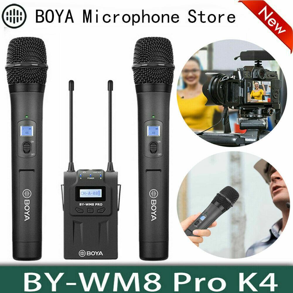 BOYA BY-WM8 Pro K4 UHF Dual Wireless Microphone Interview Mic for DSLR Camera
