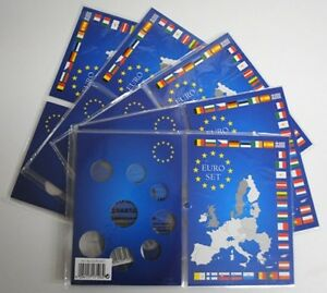 5-Cartes-de-collection-pour-serie-de-pieces-Euro-de-1cts-a-2-euros-Ref-315678
