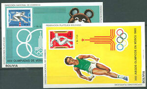 OLYMPIC BOLIVIA Mi #Bl 82/3 Complete Set Mint NH VF
