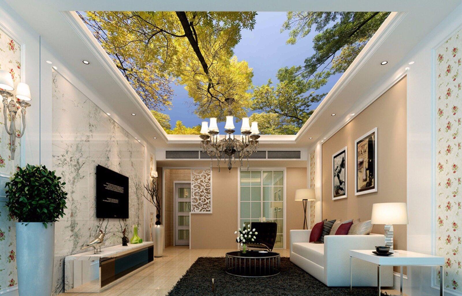 3D Woods Sky 743 Ceiling WallPaper Murals Wall Print Decal Deco AJ WALLPAPER
