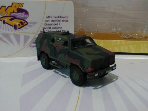 """Schuco 26243 # Dingo i allschutzfahrzeug Flecktarn Esercito Tedesco/""""/"""" 1:87 NUOVO"""