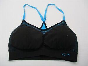 new-CHAMPION-C9-Women-039-s-Size-S-Padded-Black-Blue-Seamless-Racer-Back-Sports-Bra