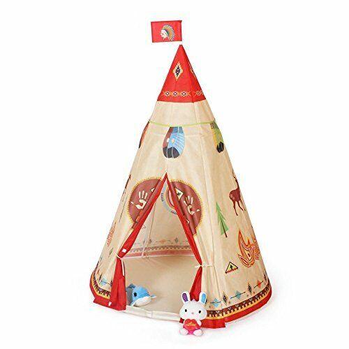 Steegic ungar spelar Tent Indian berättelse Tepee för Barnens familj och sover över XB