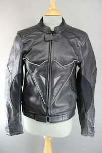 BLACK-LEATHER-BIKER-JACKET-WITH-REMOVABLE-SHOULDER-amp-ELBOW-ARMOUR-34-INCH