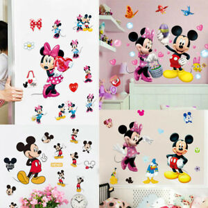 Cute-Disney-Mickey-Minnie-Mouse-Wall-Decals-Sticker-Kids-Nursery-Room-Decor-DIY