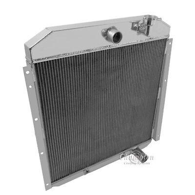"Champion 3 Row Aluminum Radiator W// 16/"" Fan for 1955-1959 GMC Truck"