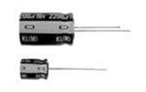Leaded 470uF 10 Volts 20/% Aluminum Electrolytic Capacitors 25