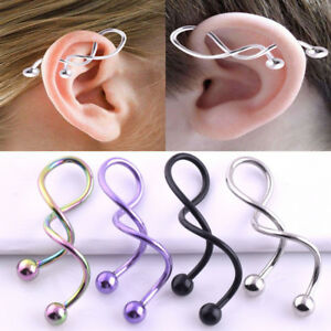 14G-Titanium-Anodized-Twist-Spiral-Barbell-Industrial-Earring-Piercing-Jewelry