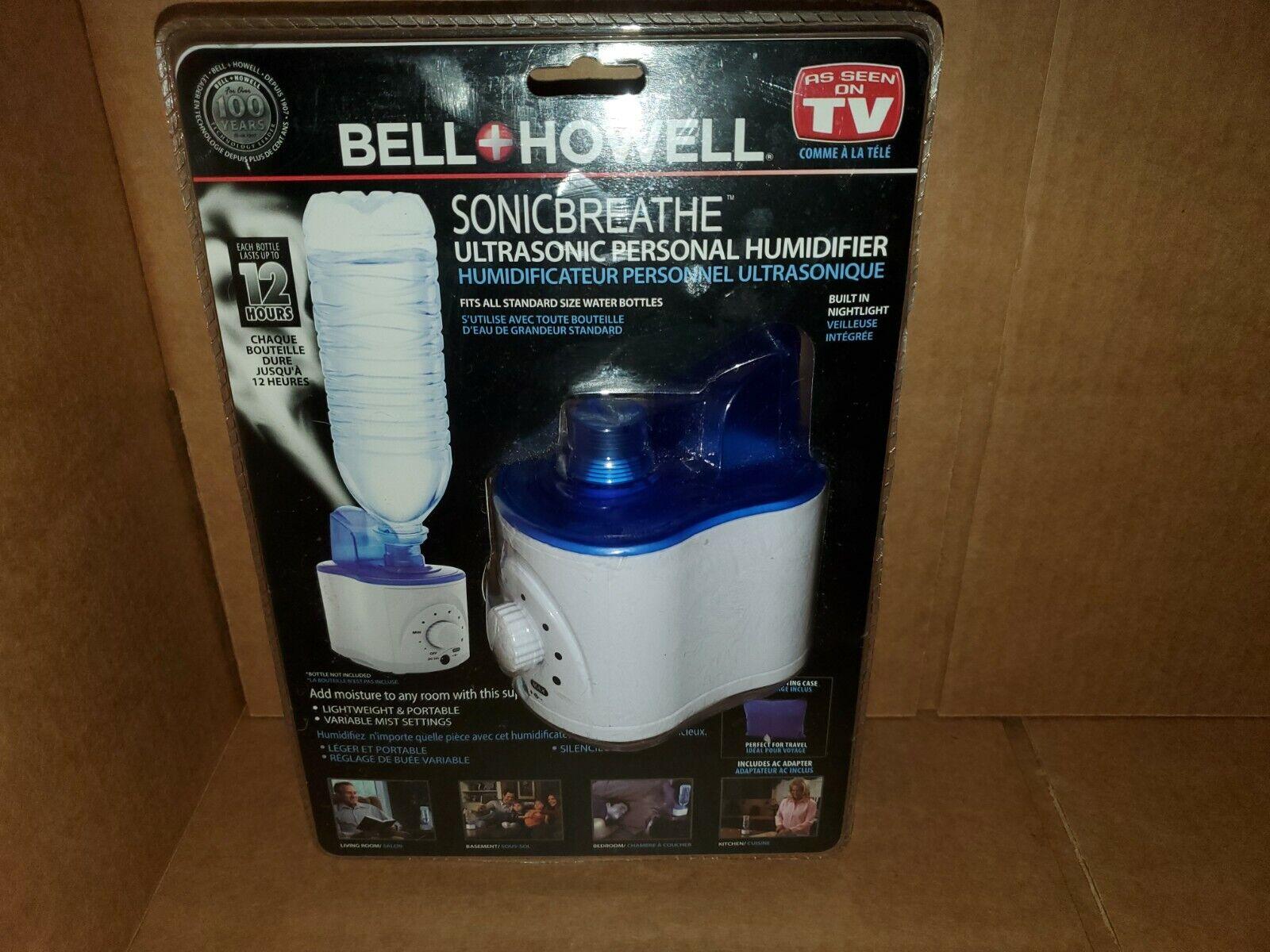 BELL + HOWELL SONIC BREATHE Ultrasonic Personal Humidifier NEW SEALED NIB