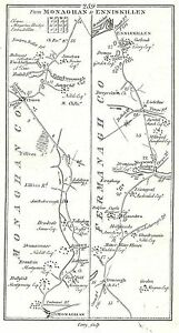 Antique-map-Roads-from-Monaghan-to-Enniskillen-Dundalk-to-Kells