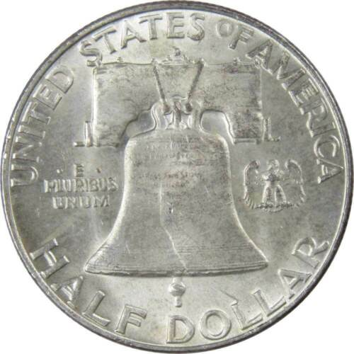1953-D 50c Franklin Silver Half Dollar AU About Uncirculated