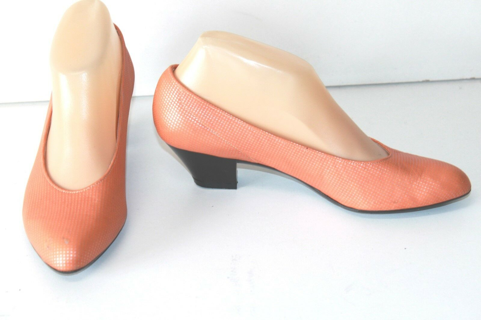 CHARLES JOURDAN Court shoes Vintage Leather orange Clear T 7B 37.5 FR