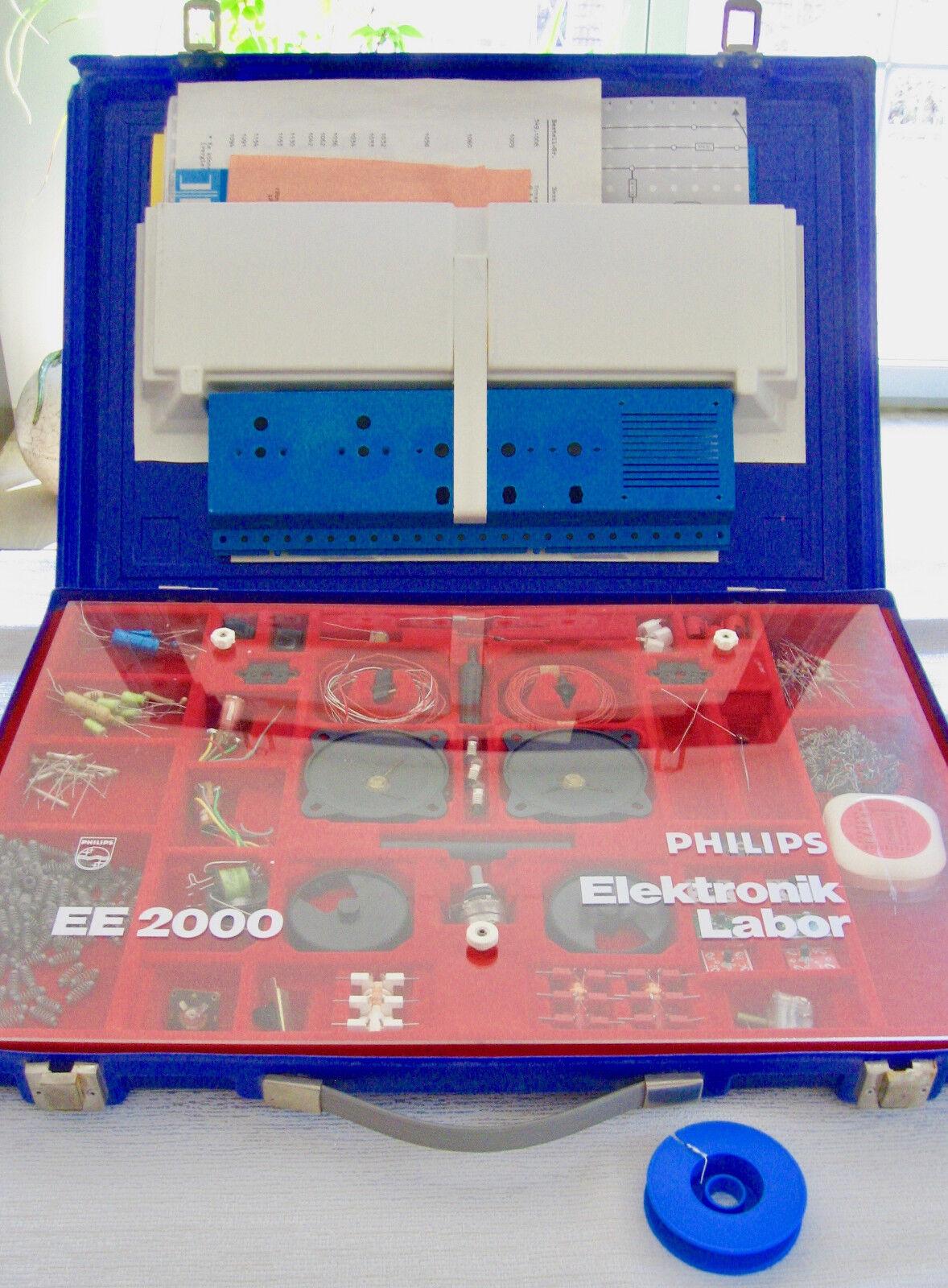 Philips Elektronik-Labor EE2000 Koffer Experimentierkästen 2003/04/05/06 Bauteil