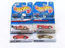 Hot Wheels Ferrari Lot Red F50 333 SP  360 Modena Gold F40 NIP First Edition