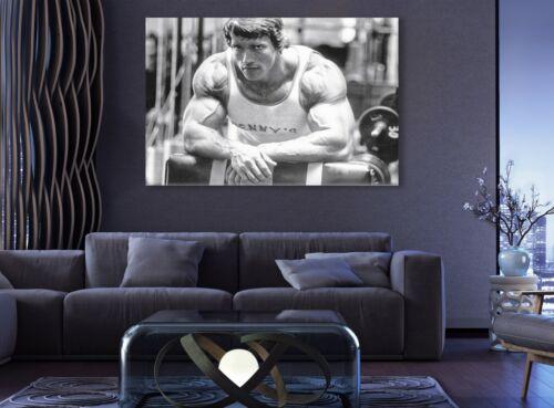 Arnold Schwarzenegger Training Time Gym Canvas Decor Motivation Art Muscle Print